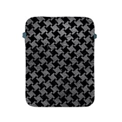 Houndstooth2 Black Marble & Gray Leather Apple Ipad 2/3/4 Protective Soft Cases