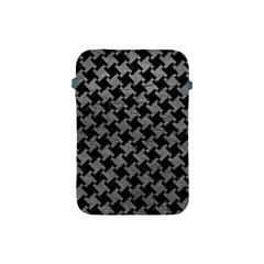 Houndstooth2 Black Marble & Gray Leather Apple Ipad Mini Protective Soft Cases