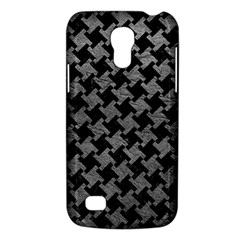 Houndstooth2 Black Marble & Gray Leather Galaxy S4 Mini