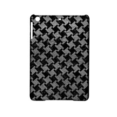 Houndstooth2 Black Marble & Gray Leather Ipad Mini 2 Hardshell Cases