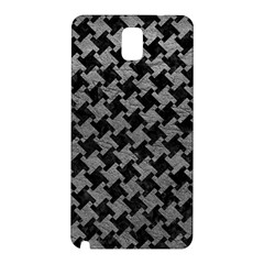 Houndstooth2 Black Marble & Gray Leather Samsung Galaxy Note 3 N9005 Hardshell Back Case