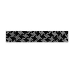 Houndstooth2 Black Marble & Gray Leather Flano Scarf (mini)