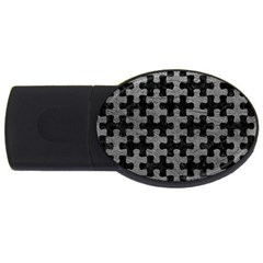 Puzzle1 Black Marble & Gray Leather Usb Flash Drive Oval (2 Gb)