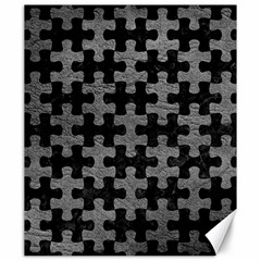 Puzzle1 Black Marble & Gray Leather Canvas 20  X 24