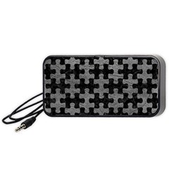 Puzzle1 Black Marble & Gray Leather Portable Speaker