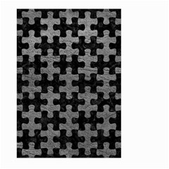 Puzzle1 Black Marble & Gray Leather Large Garden Flag (two Sides)