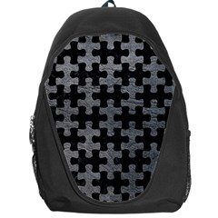 Puzzle1 Black Marble & Gray Leather Backpack Bag