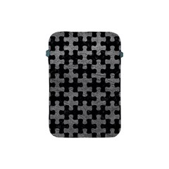 Puzzle1 Black Marble & Gray Leather Apple Ipad Mini Protective Soft Cases