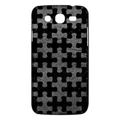Puzzle1 Black Marble & Gray Leather Samsung Galaxy Mega 5 8 I9152 Hardshell Case