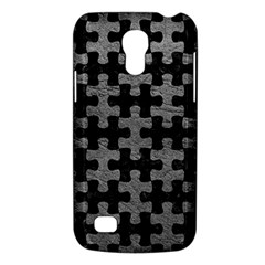 Puzzle1 Black Marble & Gray Leather Galaxy S4 Mini