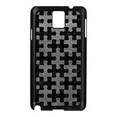 Puzzle1 Black Marble & Gray Leather Samsung Galaxy Note 3 N9005 Case (black)