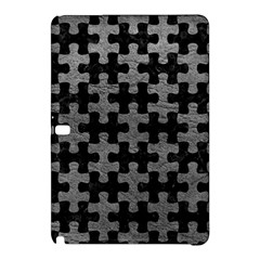 Puzzle1 Black Marble & Gray Leather Samsung Galaxy Tab Pro 12 2 Hardshell Case