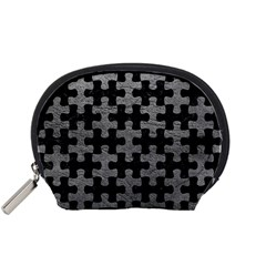 Puzzle1 Black Marble & Gray Leather Accessory Pouches (small)