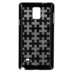 Puzzle1 Black Marble & Gray Leather Samsung Galaxy Note 4 Case (black)