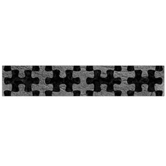 Puzzle1 Black Marble & Gray Leather Flano Scarf (large)