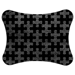 Puzzle1 Black Marble & Gray Leather Jigsaw Puzzle Photo Stand (bow)