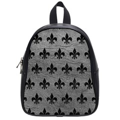 Royal1 Black Marble & Gray Leather School Bag (small)