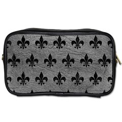 Royal1 Black Marble & Gray Leather Toiletries Bags