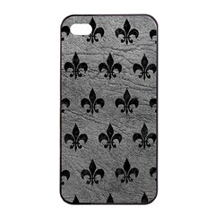 Royal1 Black Marble & Gray Leather Apple Iphone 4/4s Seamless Case (black)