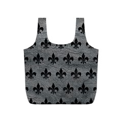 Royal1 Black Marble & Gray Leather Full Print Recycle Bags (s)