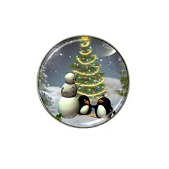 Funny Snowman With Penguin And Christmas Tree Hat Clip Ball Marker (10 Pack)