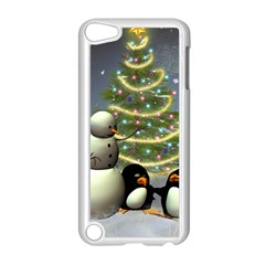 Funny Snowman With Penguin And Christmas Tree Apple Ipod Touch 5 Case (white)