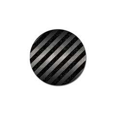 Stripes3 Black Marble & Gray Metal 1 Golf Ball Marker