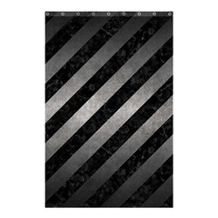 Stripes3 Black Marble & Gray Metal 1 Shower Curtain 48  X 72  (small)
