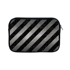 Stripes3 Black Marble & Gray Metal 1 Apple Ipad Mini Zipper Cases