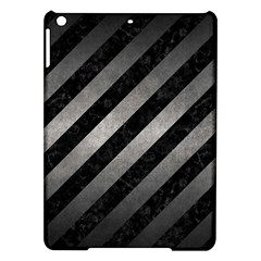 Stripes3 Black Marble & Gray Metal 1 Ipad Air Hardshell Cases