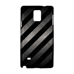 Stripes3 Black Marble & Gray Metal 1 Samsung Galaxy Note 4 Hardshell Case