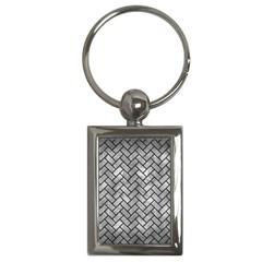 Brick2 Black Marble & Gray Metal 2 (r) Key Chains (rectangle)