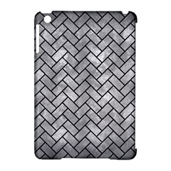 Brick2 Black Marble & Gray Metal 2 (r) Apple Ipad Mini Hardshell Case (compatible With Smart Cover)