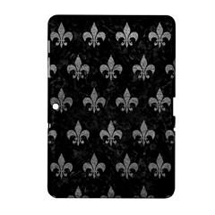 Royal1 Black Marble & Gray Leather (r) Samsung Galaxy Tab 2 (10 1 ) P5100 Hardshell Case