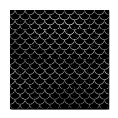 Scales1 Black Marble & Gray Leather Tile Coasters