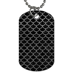 Scales1 Black Marble & Gray Leather Dog Tag (one Side)
