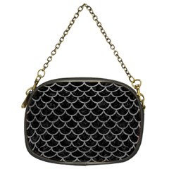Scales1 Black Marble & Gray Leather Chain Purses (one Side)