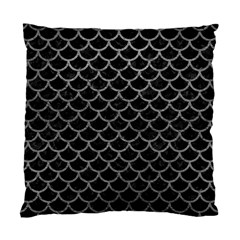 Scales1 Black Marble & Gray Leather Standard Cushion Case (one Side)