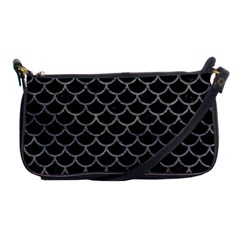 Scales1 Black Marble & Gray Leather Shoulder Clutch Bags