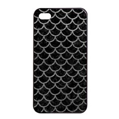 Scales1 Black Marble & Gray Leather Apple Iphone 4/4s Seamless Case (black)