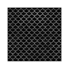 Scales1 Black Marble & Gray Leather Acrylic Tangram Puzzle (6  X 6 )