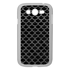 Scales1 Black Marble & Gray Leather Samsung Galaxy Grand Duos I9082 Case (white)