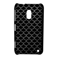 Scales1 Black Marble & Gray Leather Nokia Lumia 620