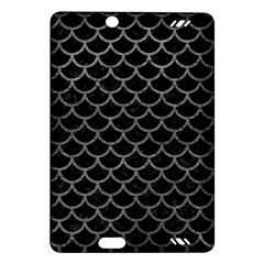 Scales1 Black Marble & Gray Leather Amazon Kindle Fire Hd (2013) Hardshell Case
