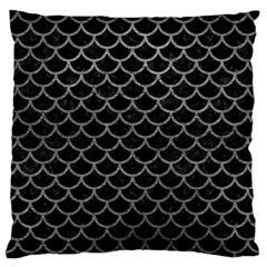 Scales1 Black Marble & Gray Leather Standard Flano Cushion Case (two Sides)
