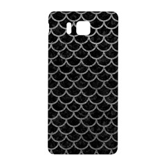 Scales1 Black Marble & Gray Leather Samsung Galaxy Alpha Hardshell Back Case