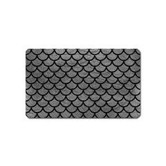 Scales1 Black Marble & Gray Leather (r) Magnet (name Card)