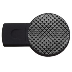 Scales1 Black Marble & Gray Leather (r) Usb Flash Drive Round (4 Gb)
