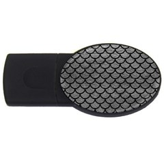 Scales1 Black Marble & Gray Leather (r) Usb Flash Drive Oval (4 Gb)