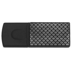 Scales1 Black Marble & Gray Leather (r) Rectangular Usb Flash Drive
